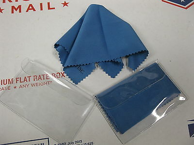 "2 pc Microfiber Cleaning Cloth Wipe Glasses Sunglass Optical Lens 7""x6"" US"