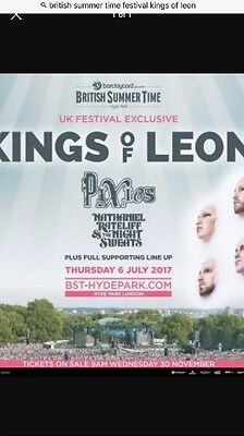 Two Tickets For kings Of Leon Hyde Park
