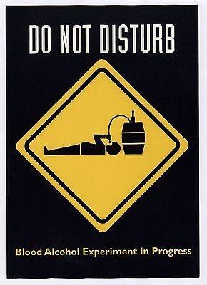 6x Do Not Disturb: Blood Alcohol Experiment In Progress (Lot of 6 Postcards)