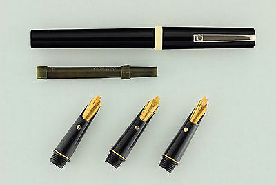 Osmiroid Shadow Scroll Calligraphy Set Gold Easy Change Older Type Nibs Pen