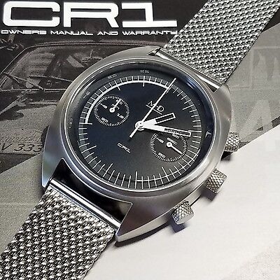 MHD CR1 Rally Driver's Retro Chronograph Men's Watch, Designed in the UK