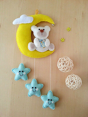 Handmade Felt Mobile/Nursery hanging wall decor/New Baby/Baby Shower Gift