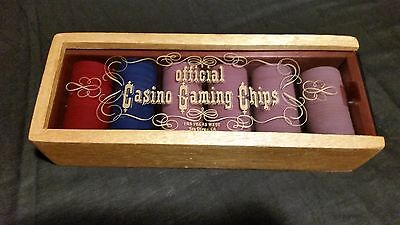 Top Official Vintage Glass Casino Gaming Chips 135 Las Vegas West San Diego Ca.
