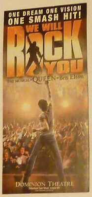 Queen Musical by Ben Elton WE WILL ROCK YOU original promotional flyer