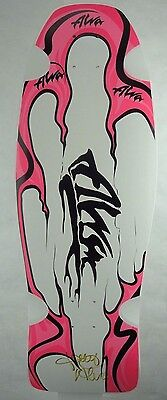 Alva Skateboards Alva Aggression Fish Re-Issue Signed Deck Limited White/Pink