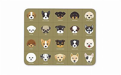 20 Cartoon Puppy Dogs Gaming Mouse Pad Nonslip Rubber Backing Ultra-Thin
