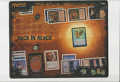 Magic The Gathering - Back In Black - 2003 Mouse Pad - 11 X 14 - Rare Promo