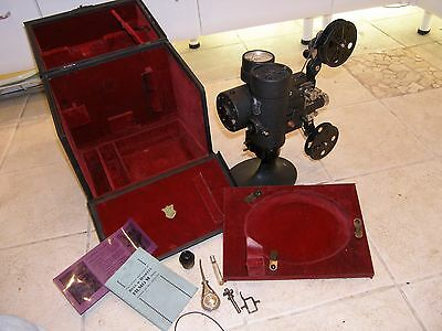Bell & Howell Vintage Filmo M 16mm Projector, Model 57 with Case & Accessories.