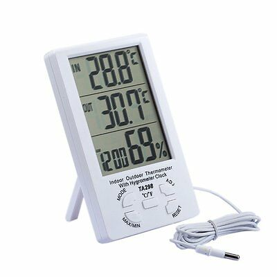Outside & Inside Digital LCD Thermometer + Hygrometer With Min/Max Value