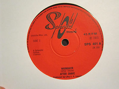 """Aftershave """"warmaker / One Of The Best""""  1973 Splendid Label - Heavy Prog/pysch"""