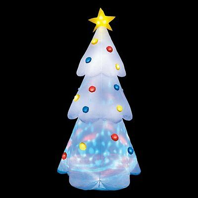 T/C 6ft Outdoor Inflatable Christmas Disco Tree Garden Decoration Led Lights