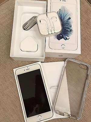 Apple Iphone 6S Plus 128Gb Silver (O2) Excellent Condition Boxed With Extras