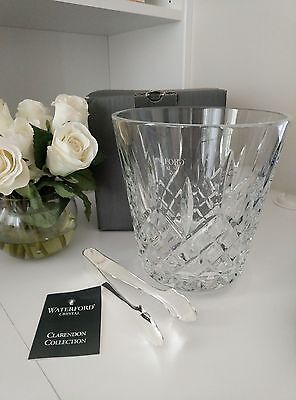 Waterford Crystal CLARENDON Ice Bucket box  signed