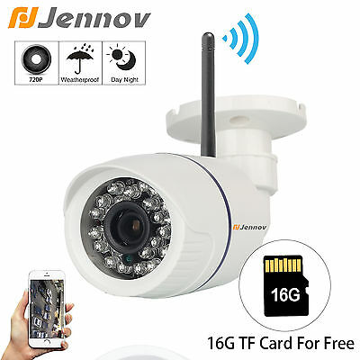 HD 720P Wifi Wireless Outdoor 16G SD Card Day Night Network Security IP Camera