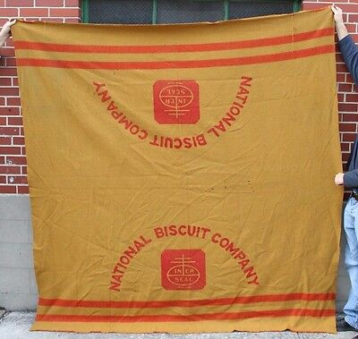 Rare National Biscuit Company Horse Blanket Wagon Driver Advertising circa 1905