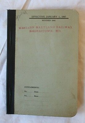 1947 Western Maryland Railway Hagerstown MD Rule Book WMRY