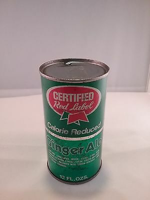 Certified Red Label Calorie Reduced Ginger Ale Soda Can, Flat Top