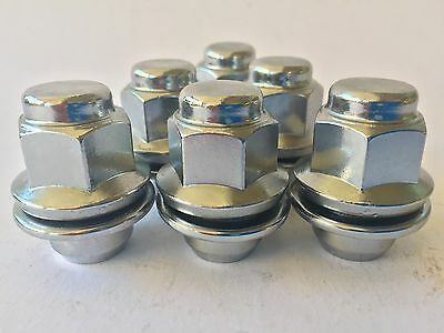 Toyota Camry Genuine Alloy wheels 20pcs Chrome Shank Wheel Nuts 12mm x 1.5