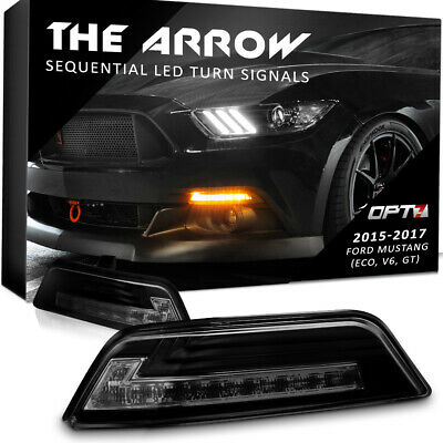 OPT7 Mustang Turn Signal White Amber Sequential Switchback LED OEM Replacements