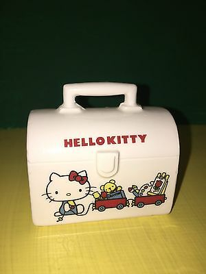 Sanrio Hello Kitty Vintage Japan 1976 Lunchbox Coin Bank Ceramic Very Rare
