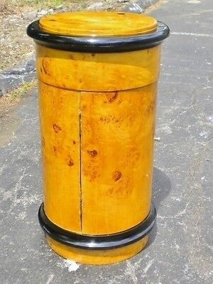 Biedermeier Style round Barrel side table cabinet