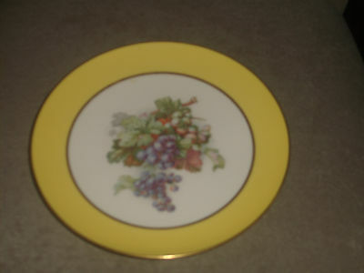Very Rare Vintage Lenox Hand Painted Yellow Compote Gold Trim Older Green Mark