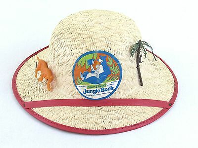 Walt Disney The Jungle Book Straw Pith Hat - 1966 1967 Disneyland Mowgli Vintage