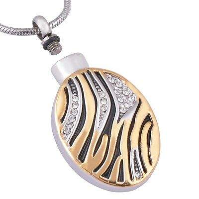 Premium silver, gold and black cz cremation pendant for ashes/perfume  925 chain