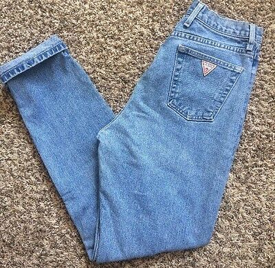 Vtg Guess High Rise Mom Tapered Leg Jeans Sz 28 1050 90s Grunge