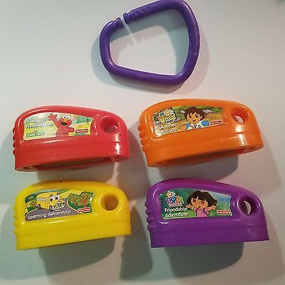 4 Fisher Price Smart Cycle Game Cartridges Toy Story Diego Dora Elmo Learning