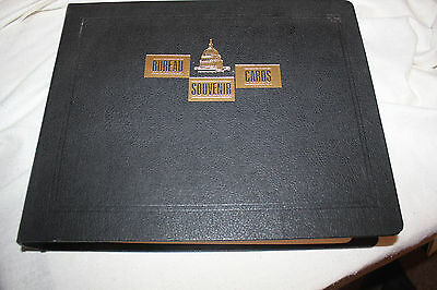 Binder of 70 Bureau Souvenir Cards on White Ace Pages 1973-1990
