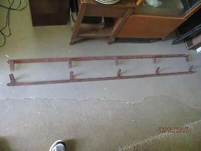 Antique Barn Door Track for Sliding Door Rollers Hangers 12ft Nib & Notch 2-6ft