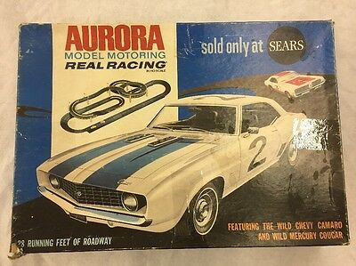 Aurora Model Motoring Real Racing Set #1981 No Cars, From 1969 HO Scale