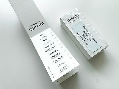 200 CHANEL SEALED PERFUME COCO ALLURE BLOTTER UNSCENTED 4x1.75 TEST STRIPS