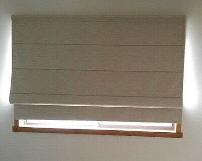 Roman Blind Custom Made Hunter Douglas Beautiful textured beige fabric-Block out
