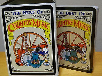 Vintage 1980's Best of Country Music singer picture playing cards sealed rare