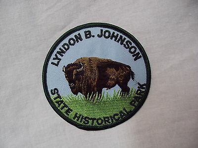 Vtg LYNDON B. JOHNSON - STATE HISTORICAL PARK - Embroidered PATCH