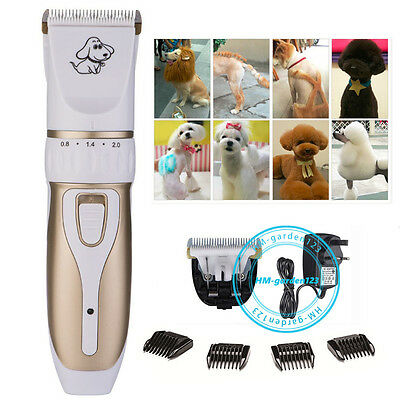 Quiet Cordless Rechargeable Dog Clippers Pet Cat Hair Trimmer Shaver Razor Set