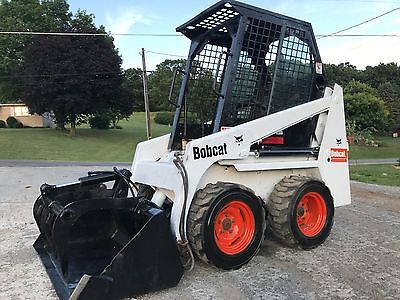 Bobcat 443B Skid Steer Wheel Loader Rubber Tire Wheel Cab New Diesel Engine