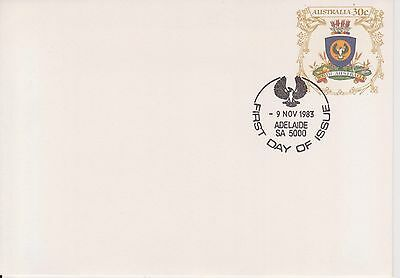 (K34-11) 1983 AU 30c PSE S.A. coat of arms small envelope Adelaide cancel(A)