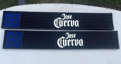 Jose Cuervo  Bar Rail Mats 2 New Style Commercial Quality Free Priority Shipping