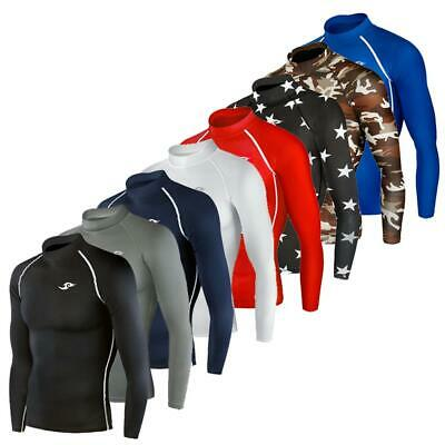 Kids Compression Long Sleeve Shirt Top Soccer Sports Skin Base Layer 4 Colours