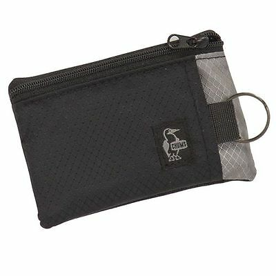 Chums Surfshorts Wallet Black & Grey (Penguin Tag)
