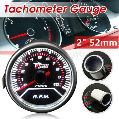 "2"" 52Mm Universal Car Motor Led Tachometer Tacho Gauge Meter Pointer Rpm 12V"