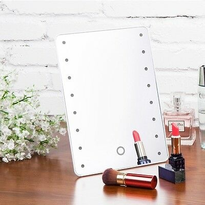 Touch LED Light Illuminated Make Up Cosmetic Bathroom Shaving Vanity Mirror