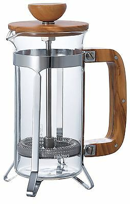 HARIO Cafe Press Wood Coffee & Tea press for two CPSW-2-OV New