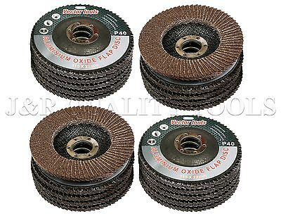 "Lot Of 20  4 1/2"" X 7/8"" Flap 60 Grit Wheel Sanding Disc Aluminum Oxide"