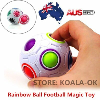 Educational Rainbow Ball Magic Cube Speed Twist Puzzle Intelligence Toys Gift ~A