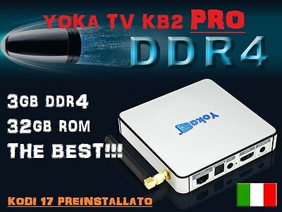 Yoka Tv Kb2 Pro Tv Box Android 3Gb Ram 32Gb Rom Kodi 17 Amlogic S912 Octa Core
