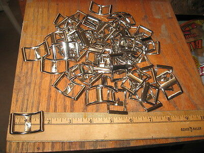 50 --3/4 In Silver Conway Buckles-Headstalls-Belts-Hatbands-Wholesale Lot